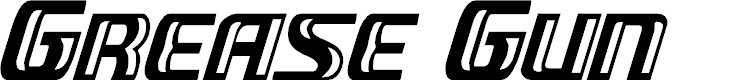 Preview image for Grease Gun Condensed Italic