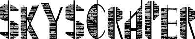 Preview image for Skyscraper Font