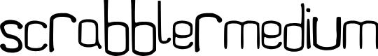 Preview image for Scrabbler-Medium Font