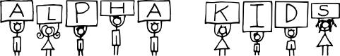 Preview image for Alpha Kids Regular Font