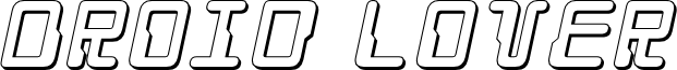 Droid Lover 3D Italic