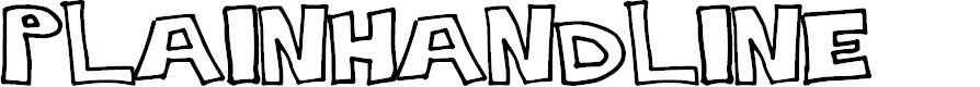 Preview image for PlainHandline Font