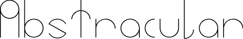 Preview image for Abstracular Font