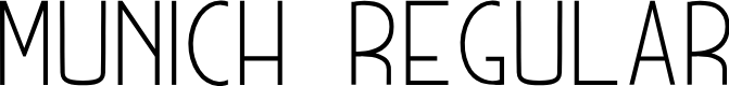 Preview image for MUNICH  Regular Font