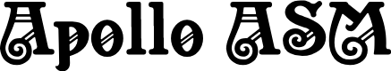 Preview image for Apollo ASM Font