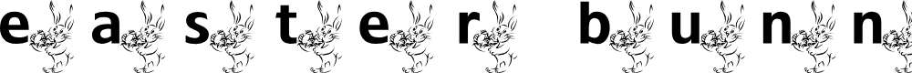 Preview image for ADFBEasterBunny Font