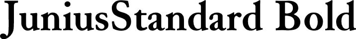 Preview image for JuniusStandard Bold