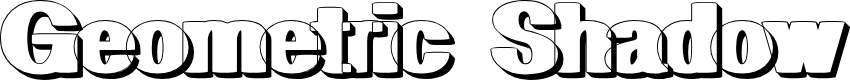 Preview image for geometric RegularShadow Font