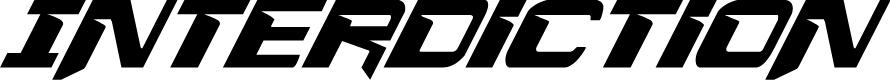 Preview image for Interdiction Condensed Italic