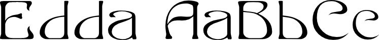 Preview image for Edda Filled Font