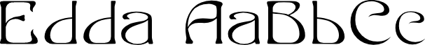 Edda Filled font