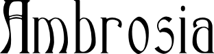 Preview image for Ambrosia Font