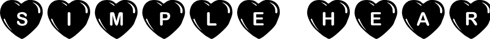 Preview image for JLR Simple Hearts Font