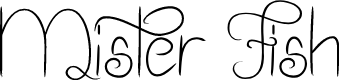 Preview image for Mister Fish Font