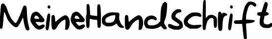 Preview image for MeineHandschrift Font