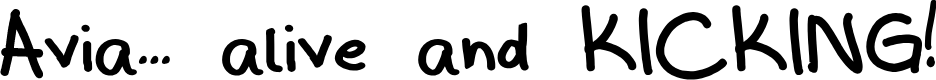 Preview image for avia Font