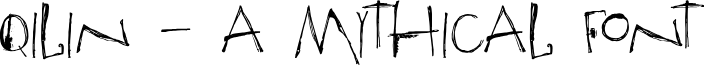 DKQilin font