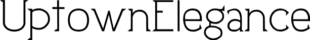 Preview image for UptownElegance Font
