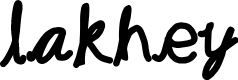 Preview image for lakhey Font