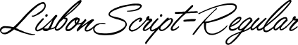 LisbonScript-Regular font