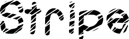 Preview image for Stripe Font