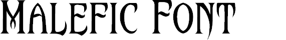 Preview image for Malefic Font