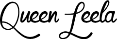 Preview image for Mf Queen Leela Font