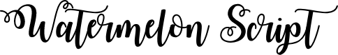 Preview image for Watermelon Script Demo Font