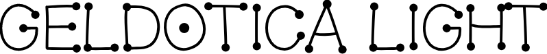 Preview image for GelDoticaLight Font