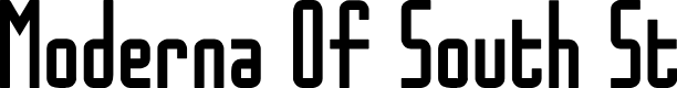 Preview image for Moderna Of South St Font