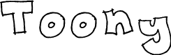 Preview image for Toony Font