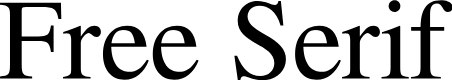 Preview image for Free Serif Font