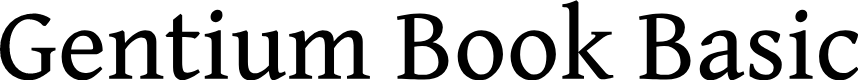 Preview image for Gentium Book Basic Font