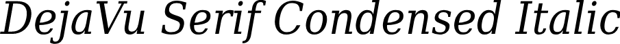 DejaVu Serif Condensed Italic