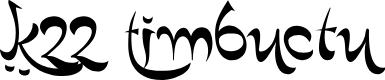 Preview image for K22 Timbuctu Font
