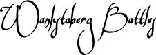 Preview image for Wankstaberg Battles Font
