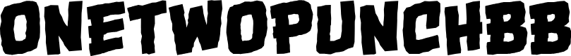 Preview image for OneTwoPunchBB Font