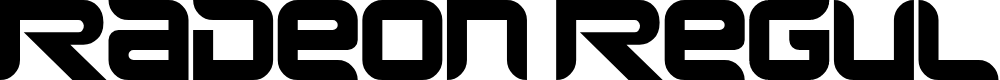 Preview image for Radeon Regular Font