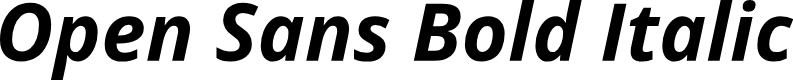Preview image for Open Sans Bold Italic