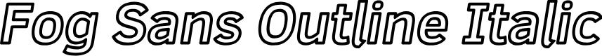 Preview image for Fog Sans Outline Italic
