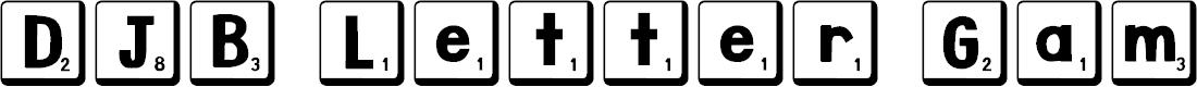 Preview image for DJB Letter Game Tiles 2