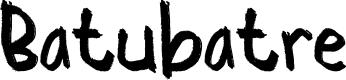 Preview image for Batubatre Font