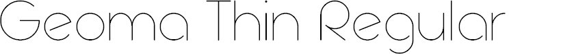 Preview image for Geoma Thin Demo Font