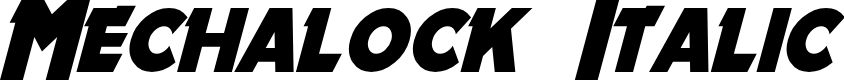 Preview image for Mechalock Italic