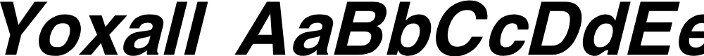 Preview image for Yoxall Bold Italic