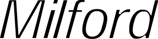 Preview image for Milford Light Italic
