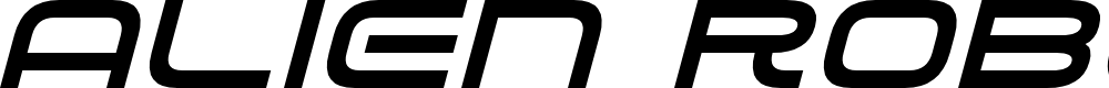 Preview image for Alien Robot Italic