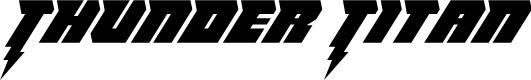 Preview image for Thunder Titan Italic