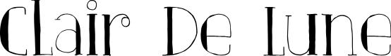 Preview image for DKClairDeLune Font