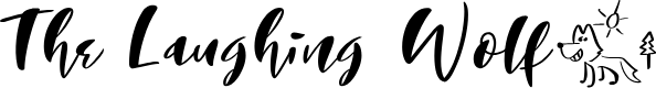 Preview image for The Laughing Wolf. Regular Font